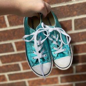 Metallic blue Converse